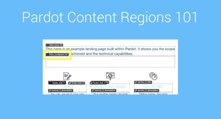 Pardot Content regions 101