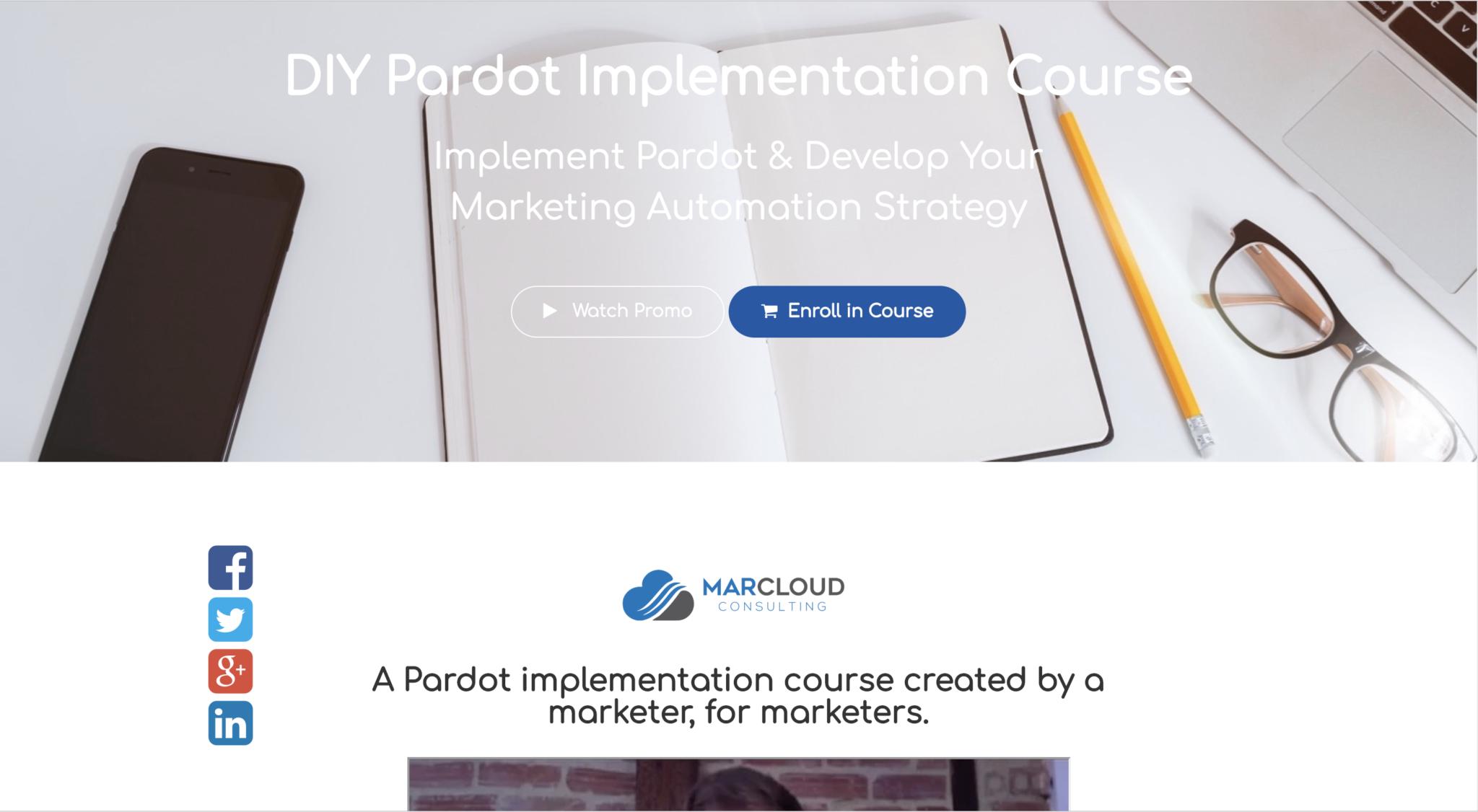 Pardot user guide landing page