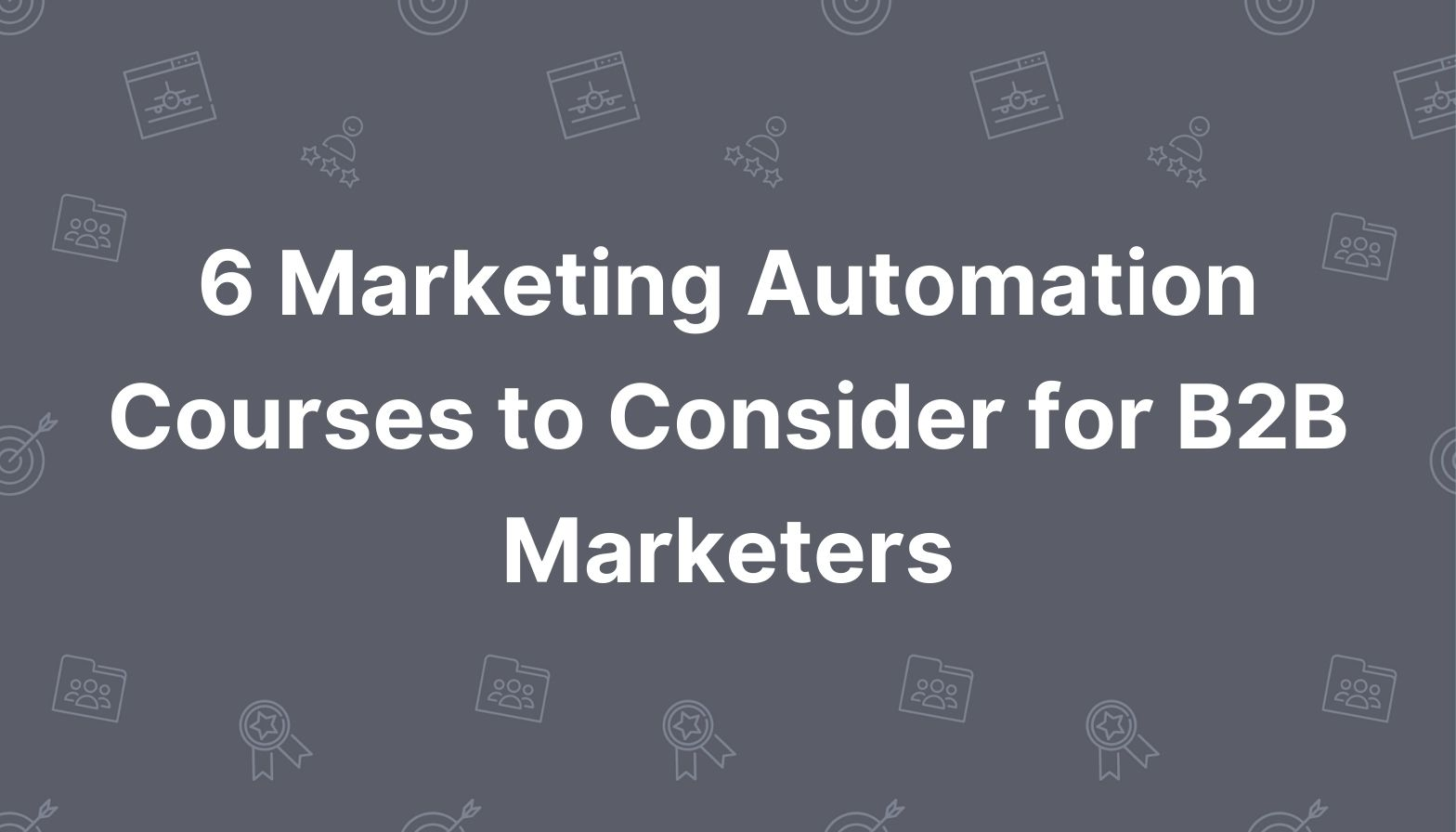 Marketing automation courses