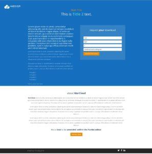 Pardot Landing Page Template