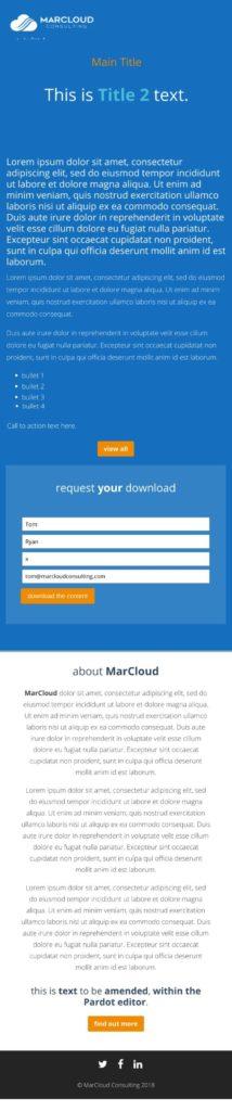 Responsive Pardot Landing Page Template