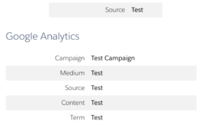 Example of UTM tracking in Pardot
