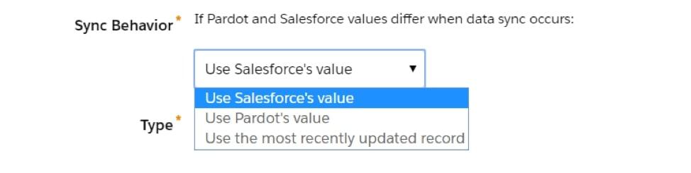 Salesforce setting sync behaviour