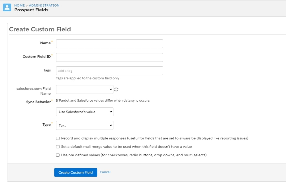 How to map custom fields during Pardot Salesforce integration