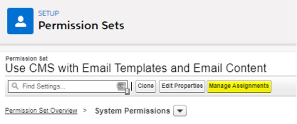 How to manage permissions Screenshot