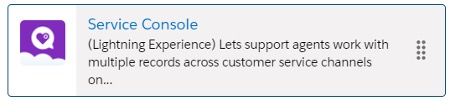 Screenshot of Service Console icon for Salesforce Service Cloud
