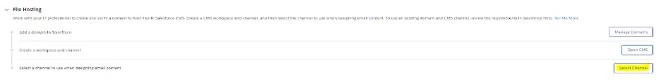 Selecting a Channel in Filehosting Screenshot