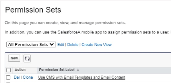 Set a permission set in Salesforce Screenshot