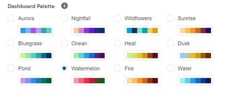 Saleforce dashboards colour palette
