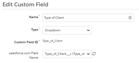How to edit custom fields to map the steps