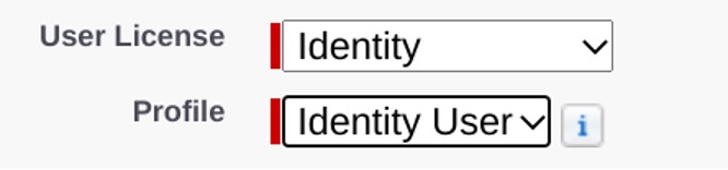 Screenshot of setting up an identity licence in Pardot