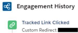 Screenshot of how custom redirects in Pardot works