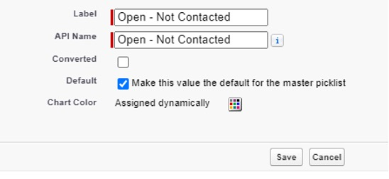 Screenshot showing how to rename and:or mark the value as 'Converted' or 'Default'.