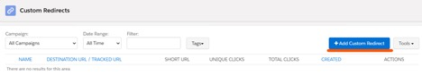 add custom redirect button screenshot