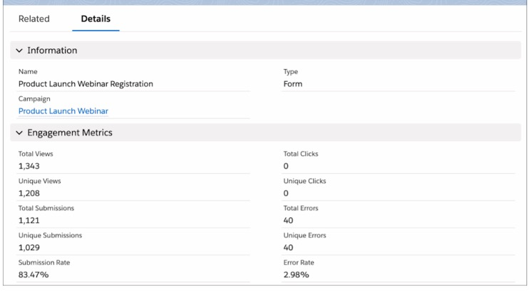 screenshot of adding the Engagement History metrics as fields on the Campaign layout