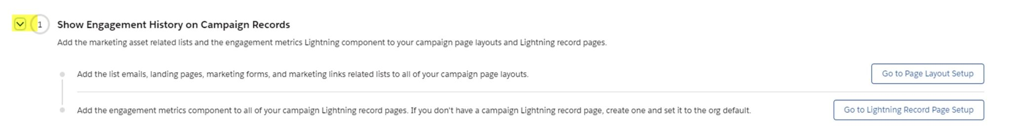 screenshot of engagement history on campaign records in Salesforce