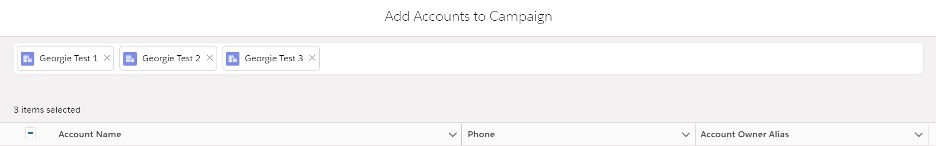 Accounts you want to add screenshot of pop up window in salesforce