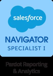 Navigator_Product_Specialist_1_Badge_Pardot_Reporting_&_Analytics_RGB
