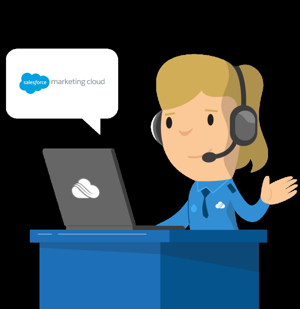 Salesforce Marketing Cloud logo and illustration